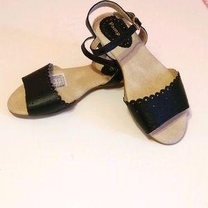 Pampili Girl's Black Sandals - Size 10